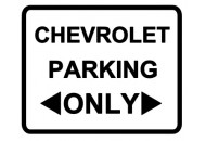 Chevrolet Parking Only